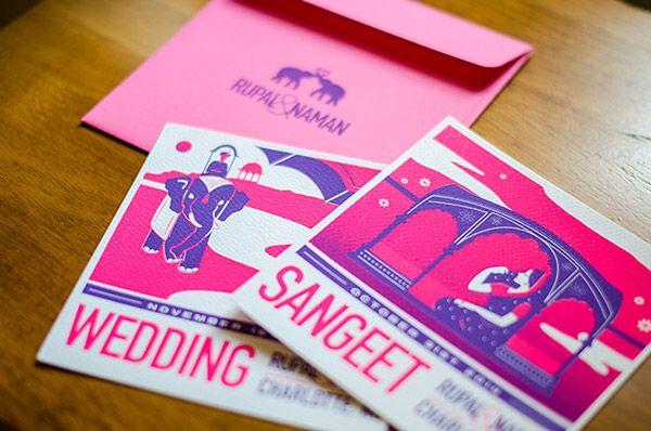 Saathi  - Mira Malhotra A modern Indian wedding invitation