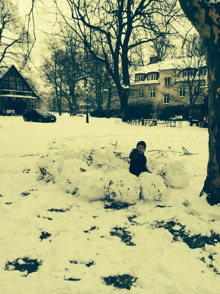 Ramlösa Brunnspark i Vinterskrud