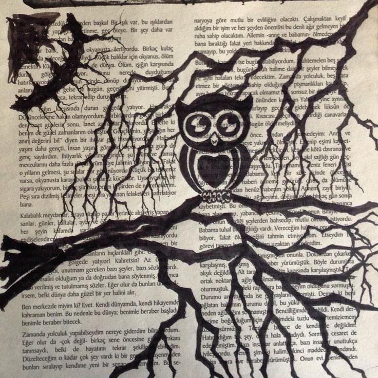 #art #illustration #drawing #owl #nightowl #artsy... - LEYLA ÖZLÜOĞLU