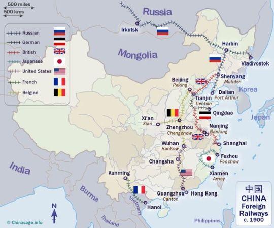 Foreign-built railways in China around 1900 [900x748]