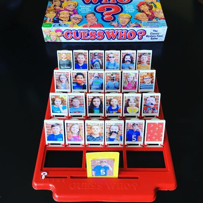 Homemade Guess Who Gifting Greatness School Auction Projects