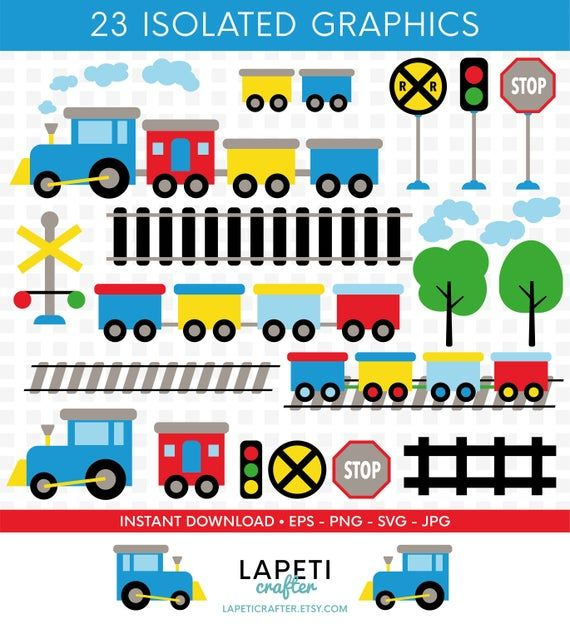 Train Clipart 23 Digital Clipart For Commercial Use Svg Eps Jpg Png Images Toy Train Clipart Baby Train Clipart Instant Download Train Clipart Clip Art Digital Clip Art