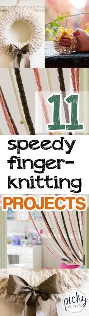 11 Speedy Finger-Knitting Projects -