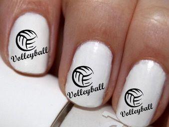 20 pc Volleyball Nail Art Nail Decals #cg7na82
