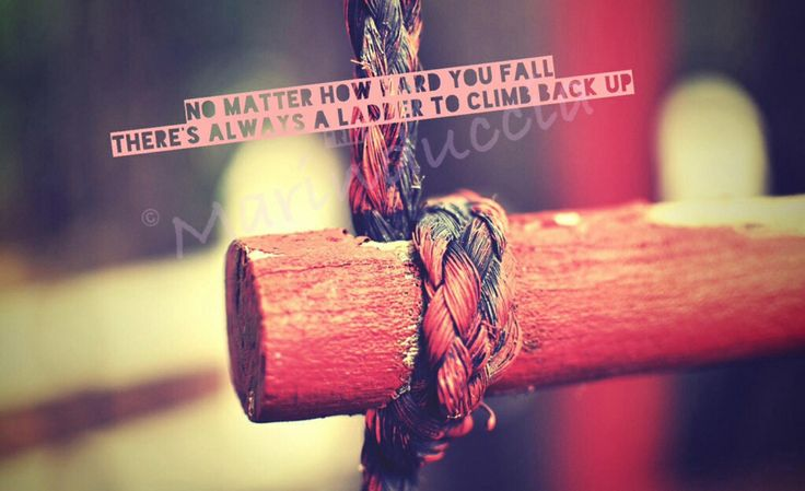 No. matter how hard you fall, there's always a ladder to climb back up