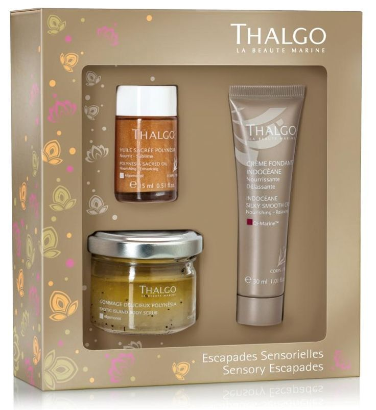 This beautiful Thalgo Sensory Escapades Spa Coffret contains travel size products from Thalgo's Polynesia and Indocéane Spa Rituals, making it the ideal gift for Mother's Day!