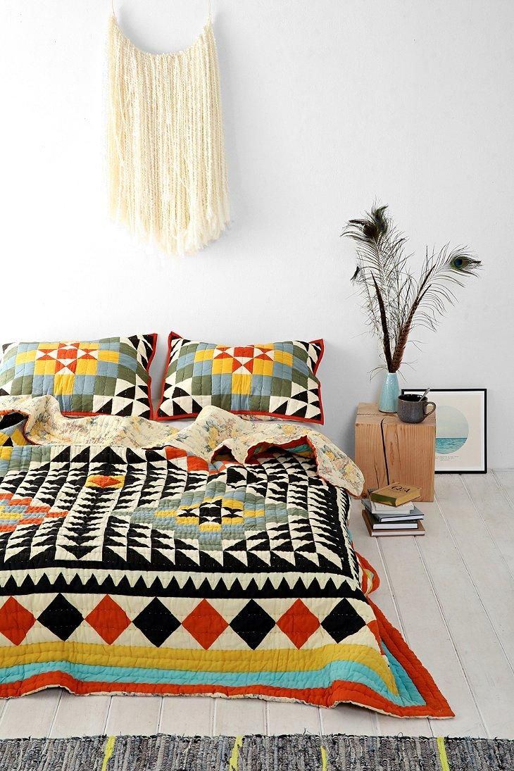 Kaleidoscope Patchwork Quilt #urbanoutfitters