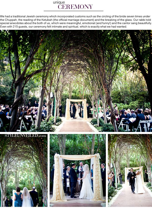 A Stylish And Chic Jewish Wedding That Incorporated Customs Such As The Chuppah Reading