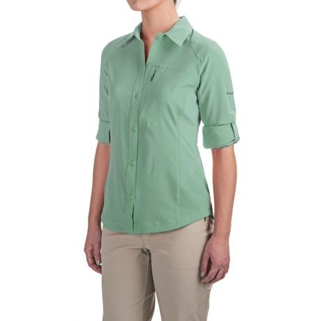 Columbia Sportswear Silver Ridge Shirt - UPF 40, Stretch Ripstop, Roll-Up Long Sleeve (For Women) in Dusty Green