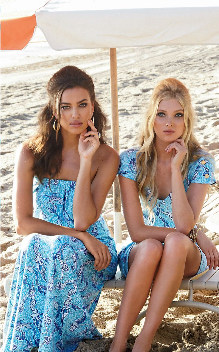 pinkandgreenlivingthedream:   REPOSTED (HQ) - Elsa Hosk & Irina Shayk for 'Lilly Pulitzer' Spring 2014   So stunning