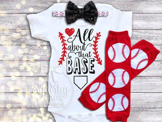 Girl Baseball Outfit Baby Girl Baseball by BabySquishyCheeks