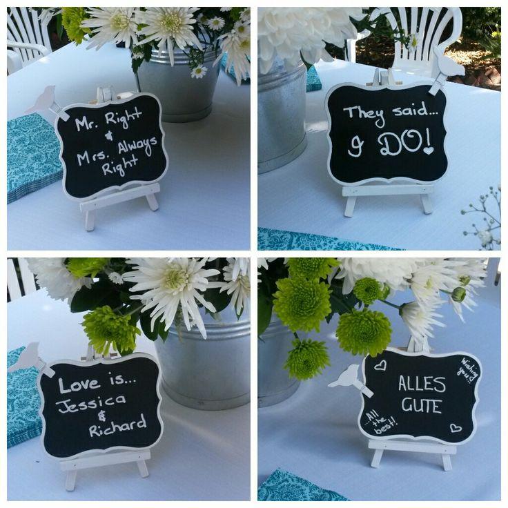 Black boards home garden wedding
