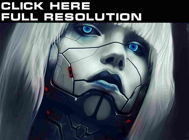 Augen Roboter Gesicht Blond Mädchen Haar Fantasy