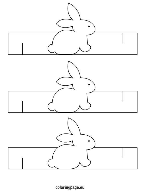 Easter bunny napkin ring