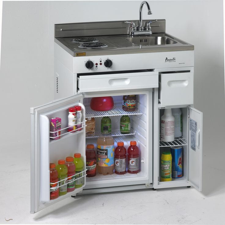Complete Compact Kitchen with Refrigerator for small places.