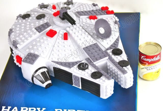 Celebrate with Cake!: Millenium Falcon Lego Cake