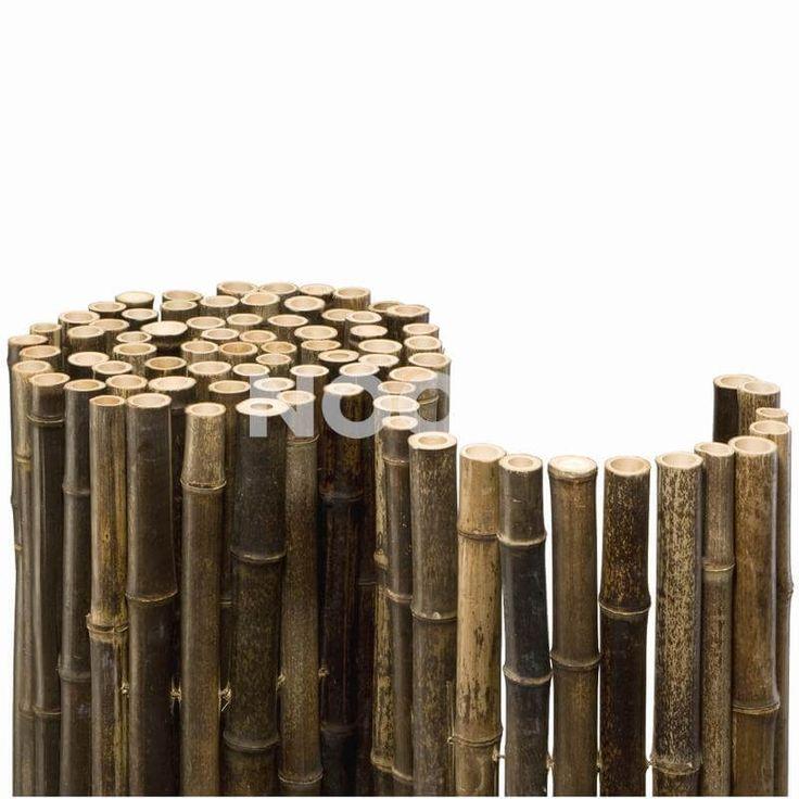 Bambusmatte Black Bambus Sichtschutz Zaun