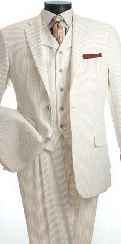 Vittorio St. Angelo Men's 3 Piece Seersucker Suit - High Fashion - Clothing Connection Online