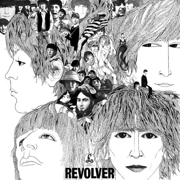 Revolver by The Beatles (1966) | Community Post: 42 Classic Black And White Album Covers                                                                                                                                                      More