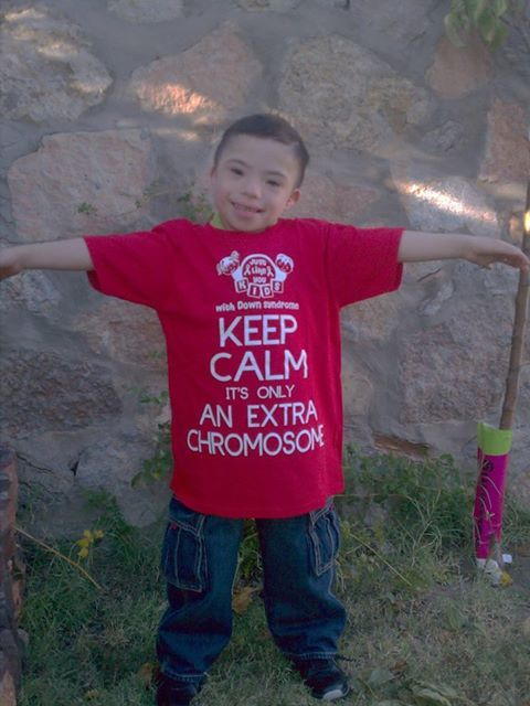 """KEEP CALM It's Only An Extra Chromosome"" T-Shirt Provided"