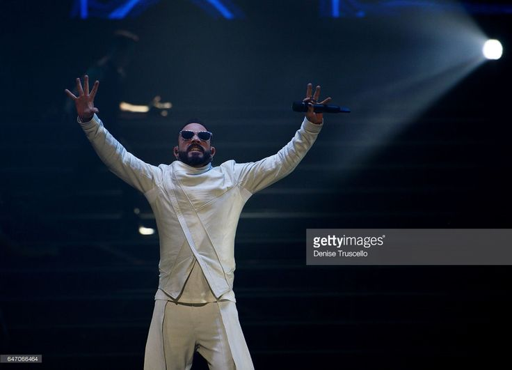 Singer AJ McClean of the Backstreet Boys perform during the launch of the group's residency 'Larger Than Life' at The Axis at Planet Hollywood Resort & Casino on March 1, 2017 in Las Vegas, Nevada. in Las Vegas, Nevada.