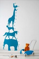 Ferm Living Stickers Animal Tower Blå - Wall stickers | Ellos Mobile