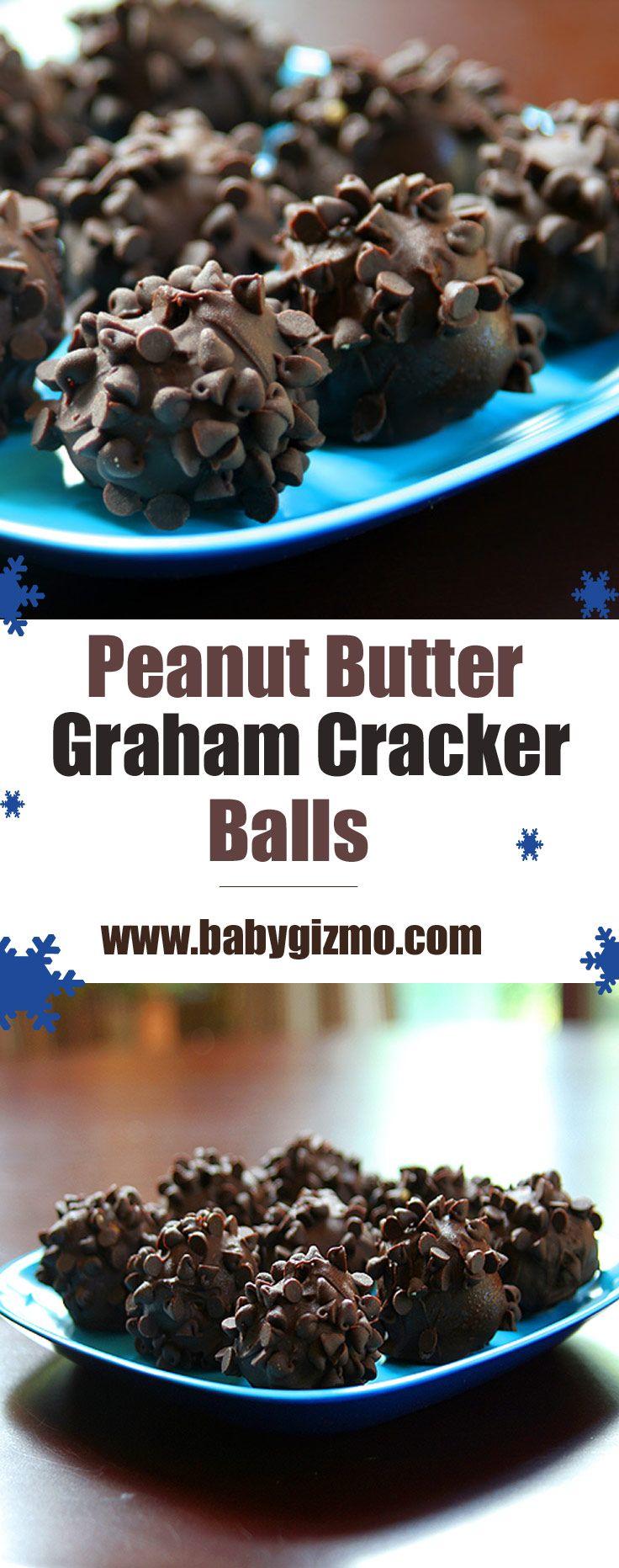 Peanut Butter Graham Cracker Chocolate Balls! So good and easy to make! #chocolate #babygizmo #dessert