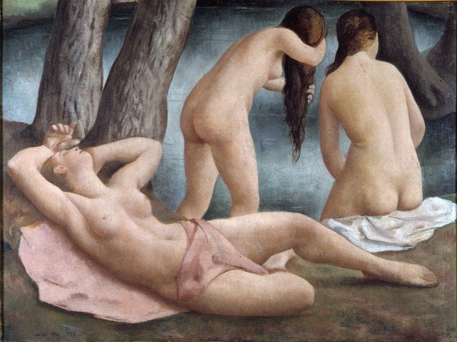 Ubaldo Oppi, Le tre bagnanti, 1927