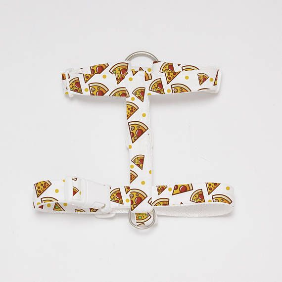 Adjustable Pizza Patterned Dog/Cat Harness-Textile Dog/Cat Harness