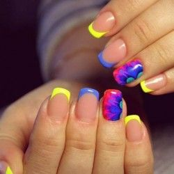 French tip nail designs for summer