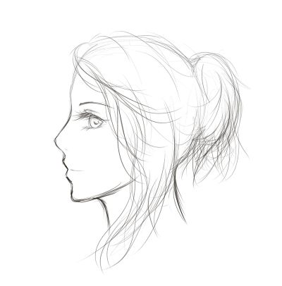 Sketch - Side Profile by Maina11