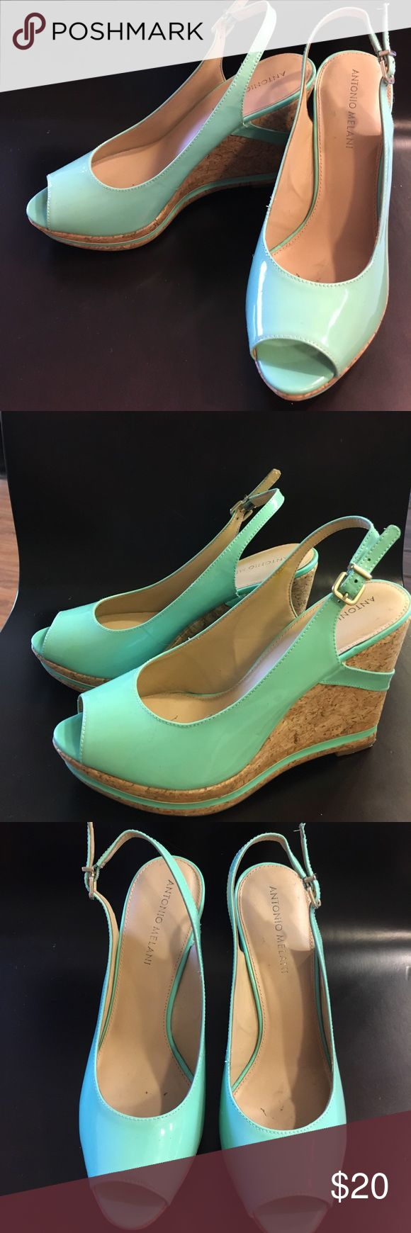 Antonio Melani Wedges Seafoam Green Wedges with slight wear marks shown in picture ANTONIO MELANI Shoes Wedges