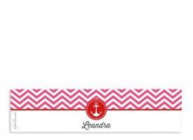 unsere Serviettenbanderolen Hamptons Anchor in Pink/Rot