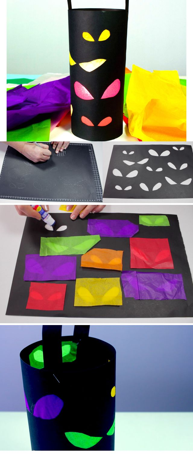 Learn how to make this spooky lantern for Halloween!