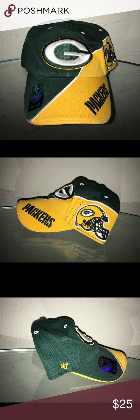 47 Brand Green Bay Packers NFL cap Green Bay Packers NFL Cap Nice and Wonderful Cap One Size Fits All  Brand New Accessories Hats