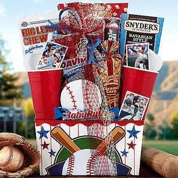 Baseball Gift Basket.  See more at www.pro-gift-baskets.com!