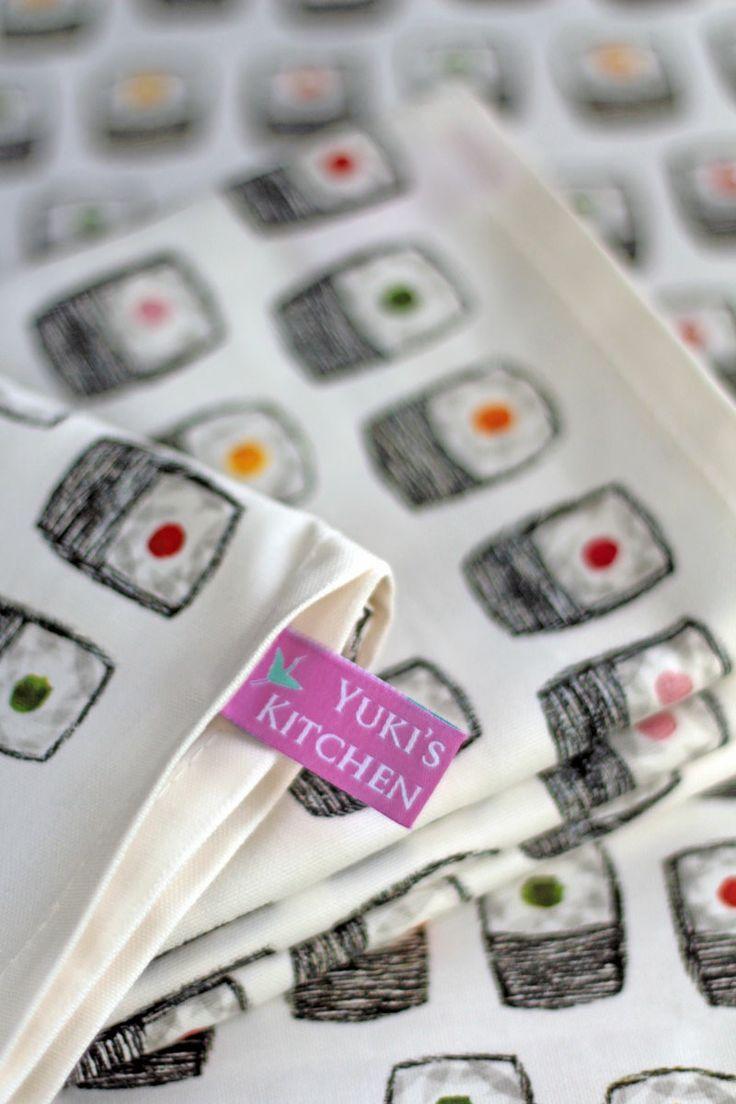 Colourful and stylish Maki Sushi print from Yuki's Kitchen #delicious #yukiskitchen http://www.amazon.co.uk/Maki-Sushi-Cotton-Tea-Towel/dp/B00JYE1RR8/ref=sr_1_1?s=kitchen&ie=UTF8&qid=1399787020&sr=1-1&keywords=tea+towels+sushi