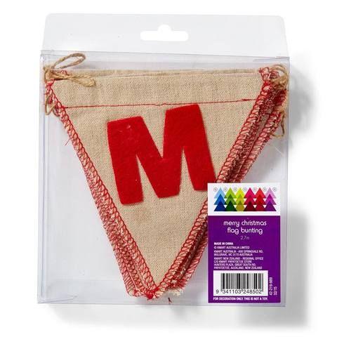 Merry Christmas Flag Bunting - 270cm