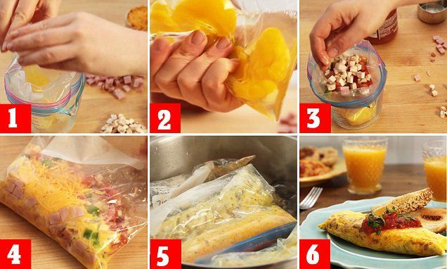 AllRecipes' YouTube video shows you how to cook an omelette in a freezer bag   Daily Mail Online
