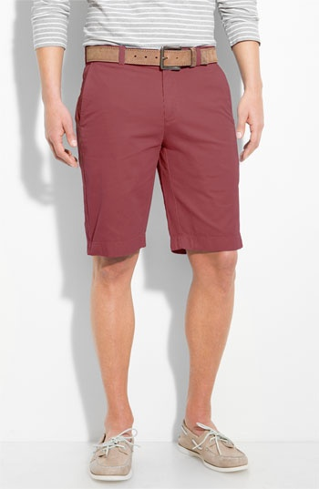 Boat shoes and statement shorts. I love the color combo and the idea of wearing long sleeves w/shorts.