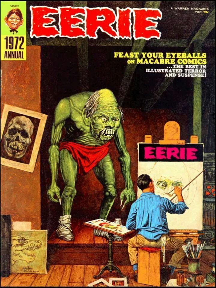 Eerie magazine cover 82 best horror magazine