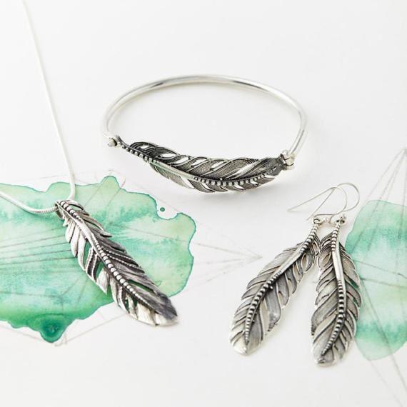 Boho Necklaces Feather Necklace Boho Jewelry Feather