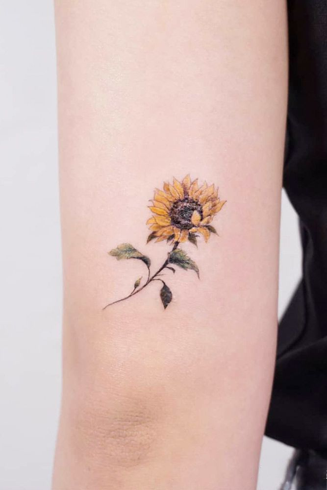 Get Yourself Inspired With Our Sunflower Tattoo Ideas Watercolor