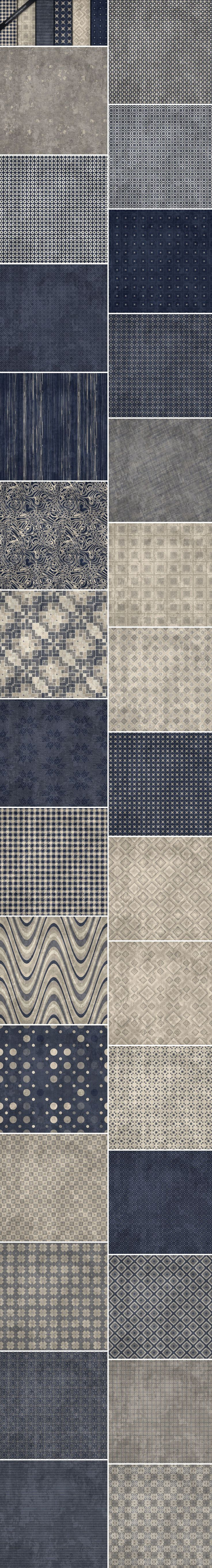 Get your design freebie -  White Washed Blue and Beige Seamless Grunge Patterns…