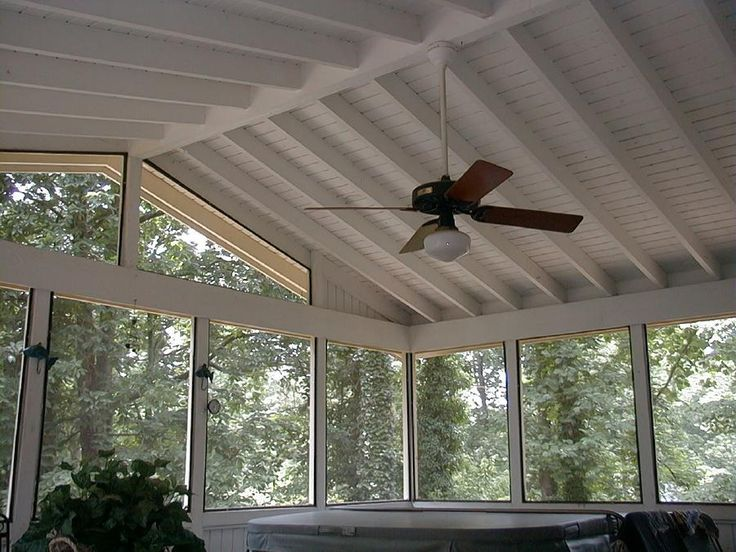 Screened in porch ideas design screen porch ceiling for Balcony ceiling design