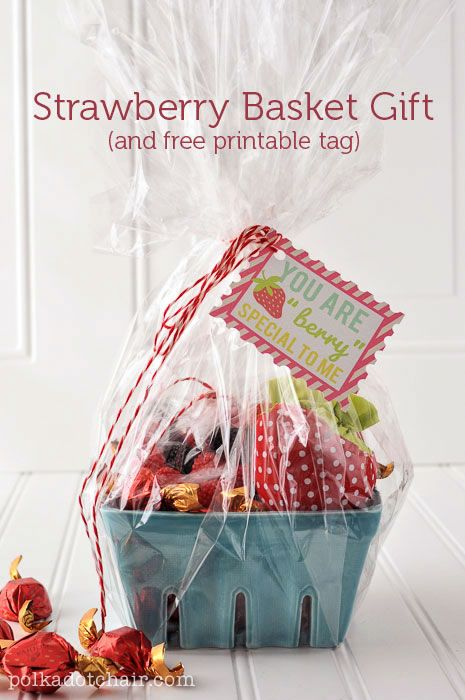Strawberry Gift Basket Ideas | Gifts, Printable tags and ...