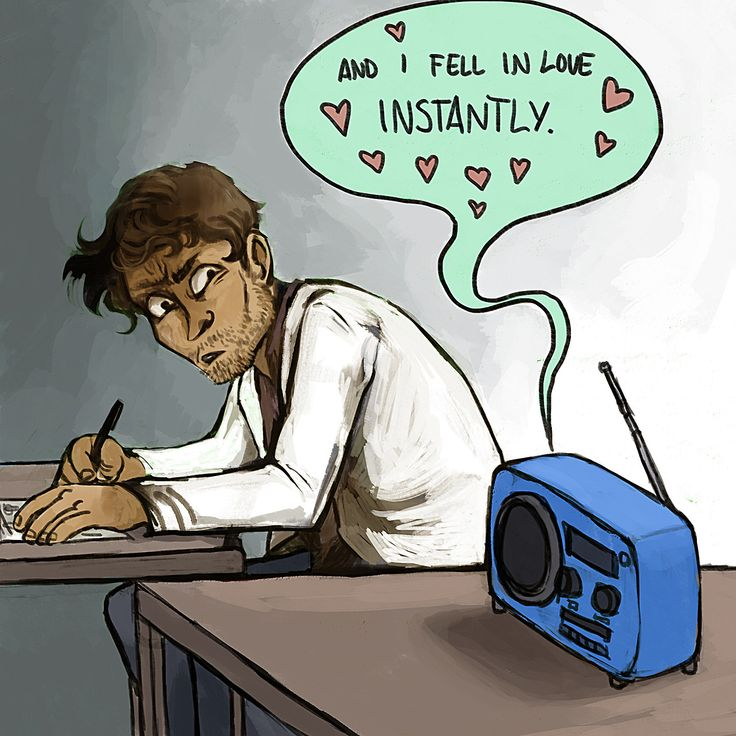 welcome to night vale art: Photo (Awkward radio announcement is awkward. Carlos is flattered and freaked.)