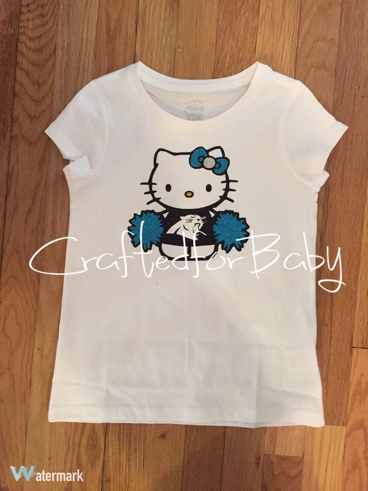 Hello Kitty Carolina Panthers Cheerleader Shirt or Onesie by CraftedforBaby on Etsy https://www.etsy.com/listing/275917088/hello-kitty-carolina-panthers