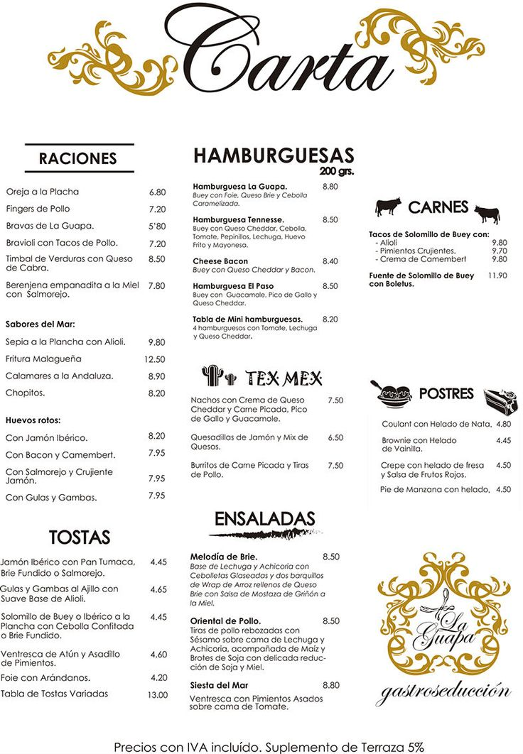 La Toque Restaurant Menu