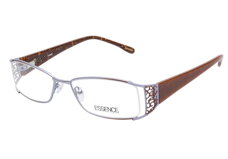 Essence Kenya 00B Purple Brown eyeglasses are quirky and casual. This eccentric style boasts a polished light blue metal construction, designed with exposed outer edges to the rectangular lenses. The from @CoastalDotCom